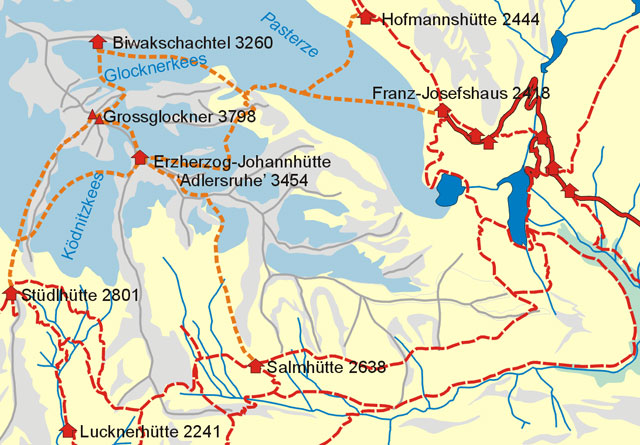 Grossglockner area map