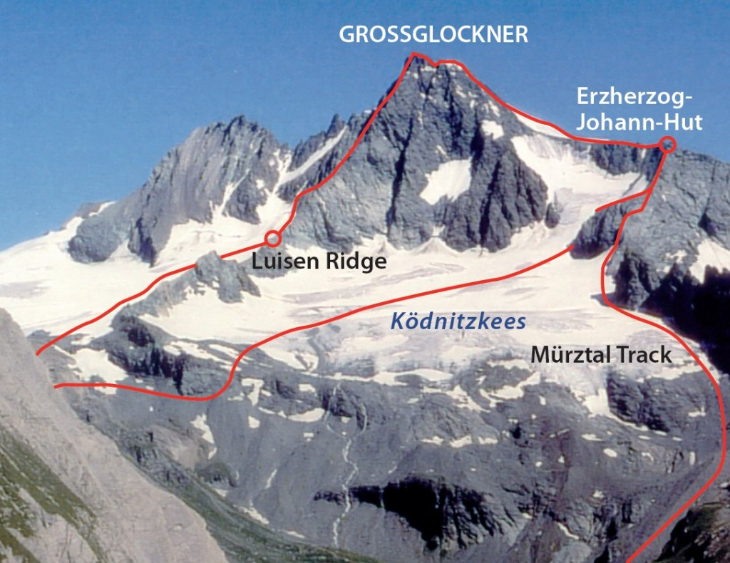 Grossglockner South routes