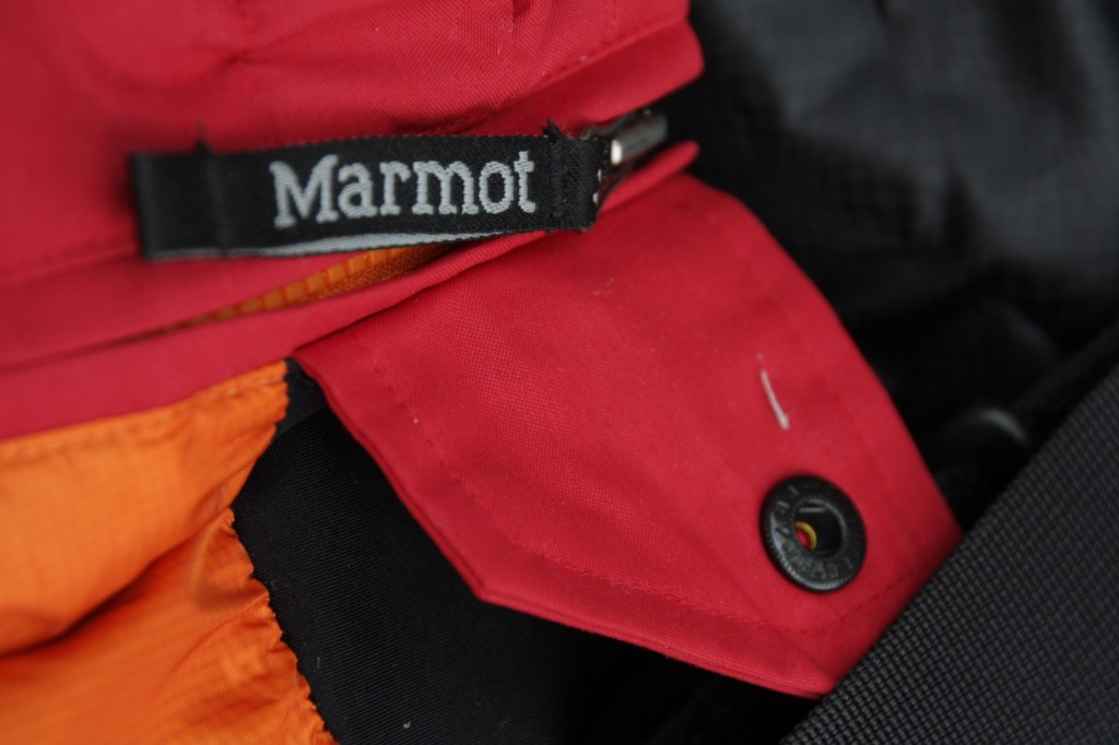 Marmot Pant side zip flap
