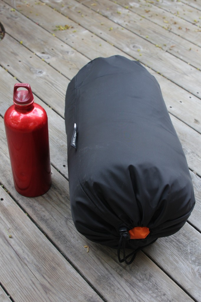 Marmot travel sack filled