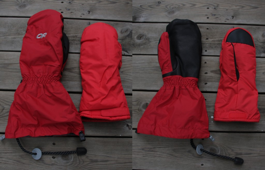 Outdoor Research Alti Mitts from front and back