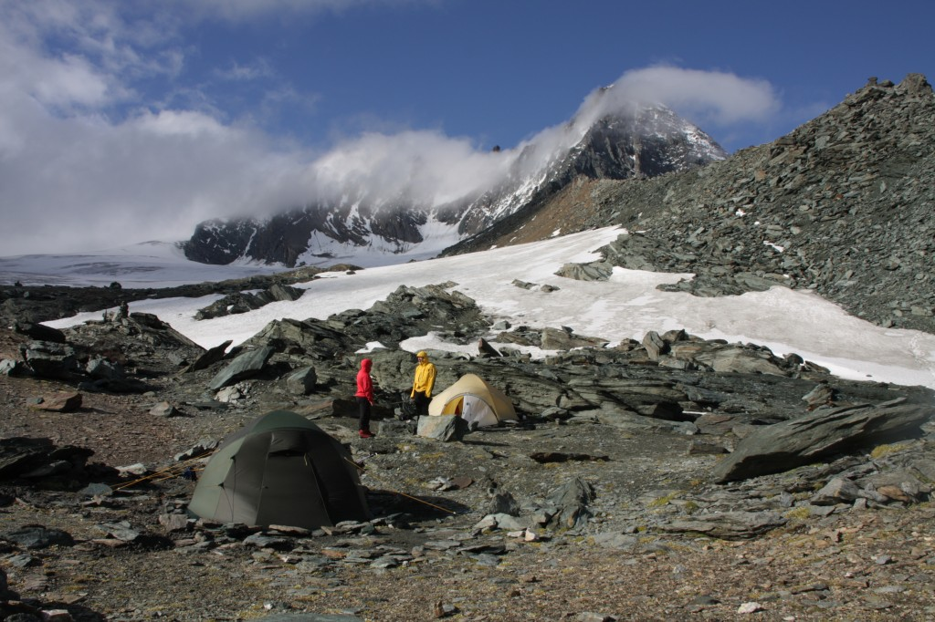 Our basecamp with Sutdlgrat on the background