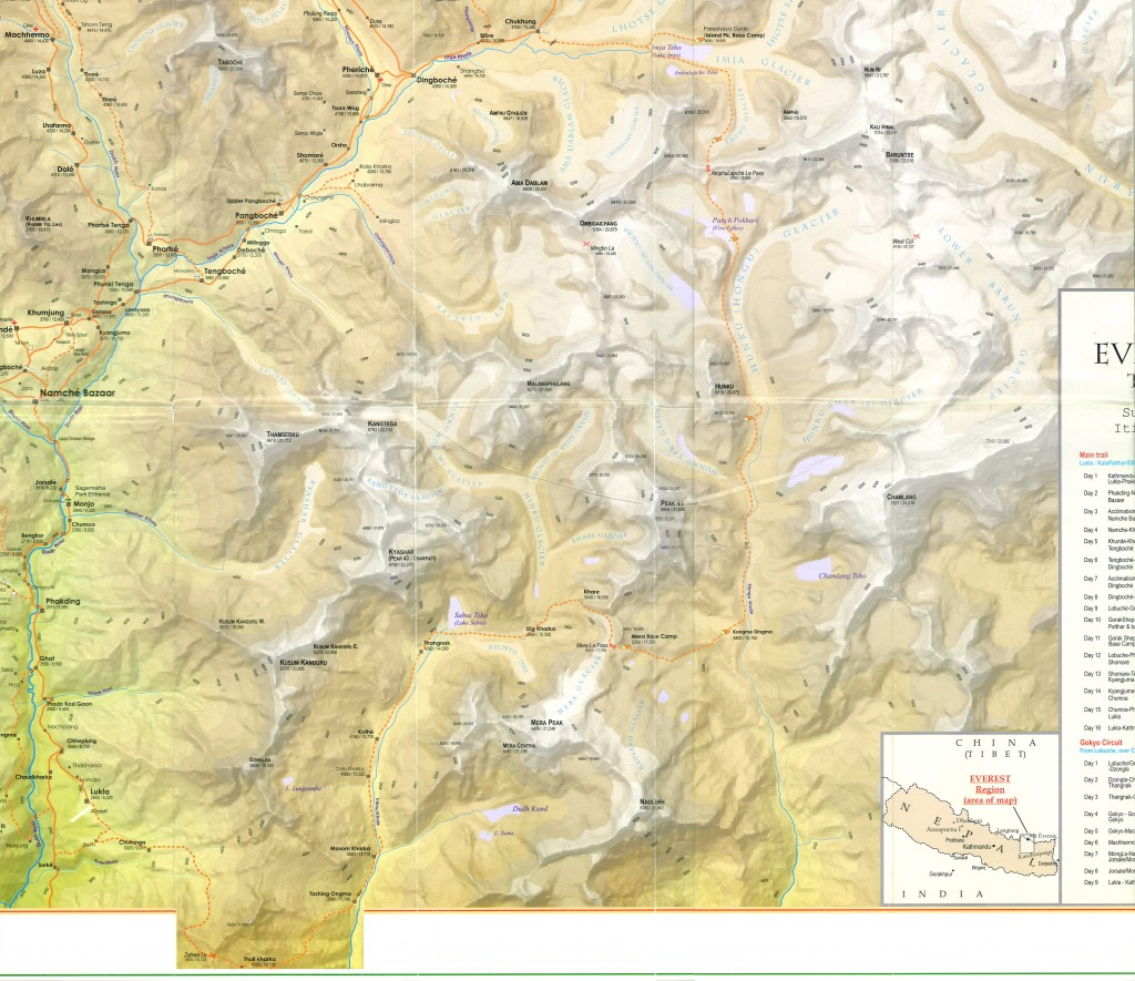 Barun-Makalu National Park Map