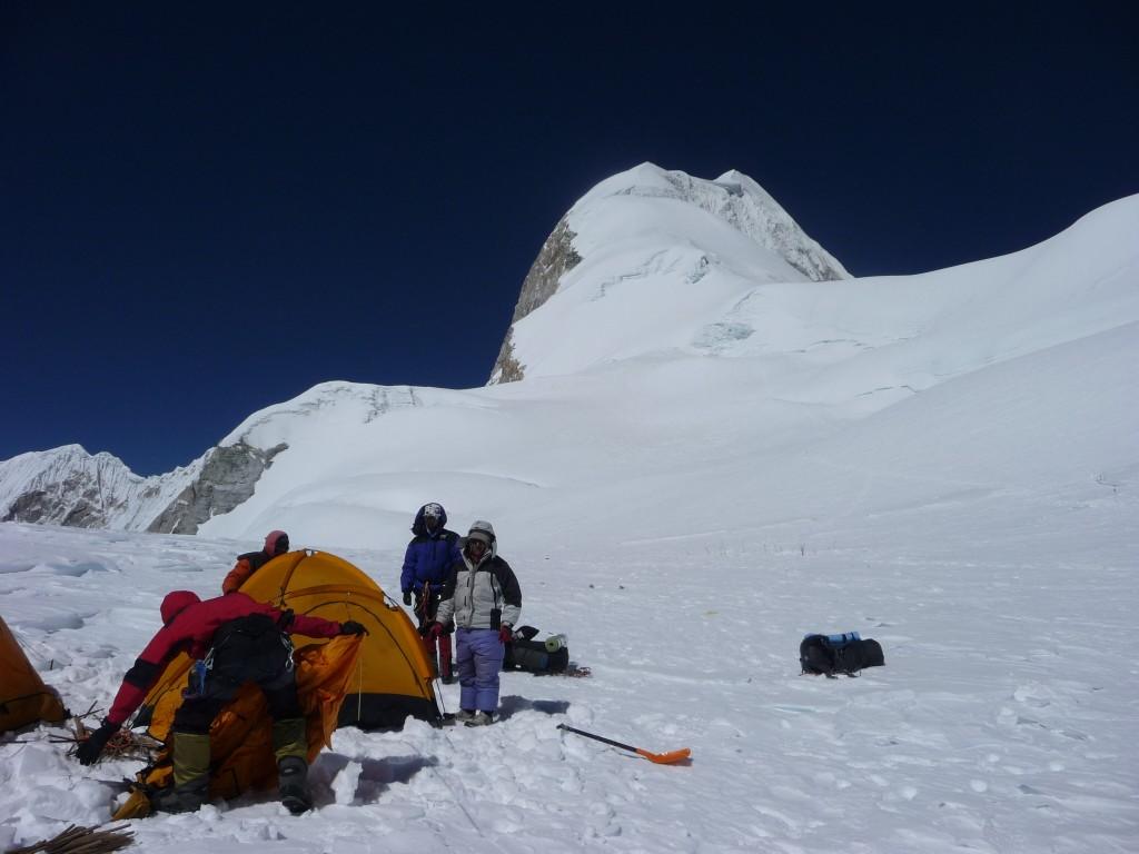 Baruntse Camp 2 and summit