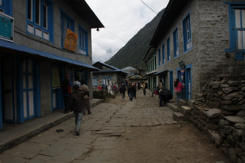 The street of Lukla