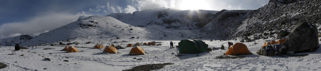 Mera Peak basecamp panorama
