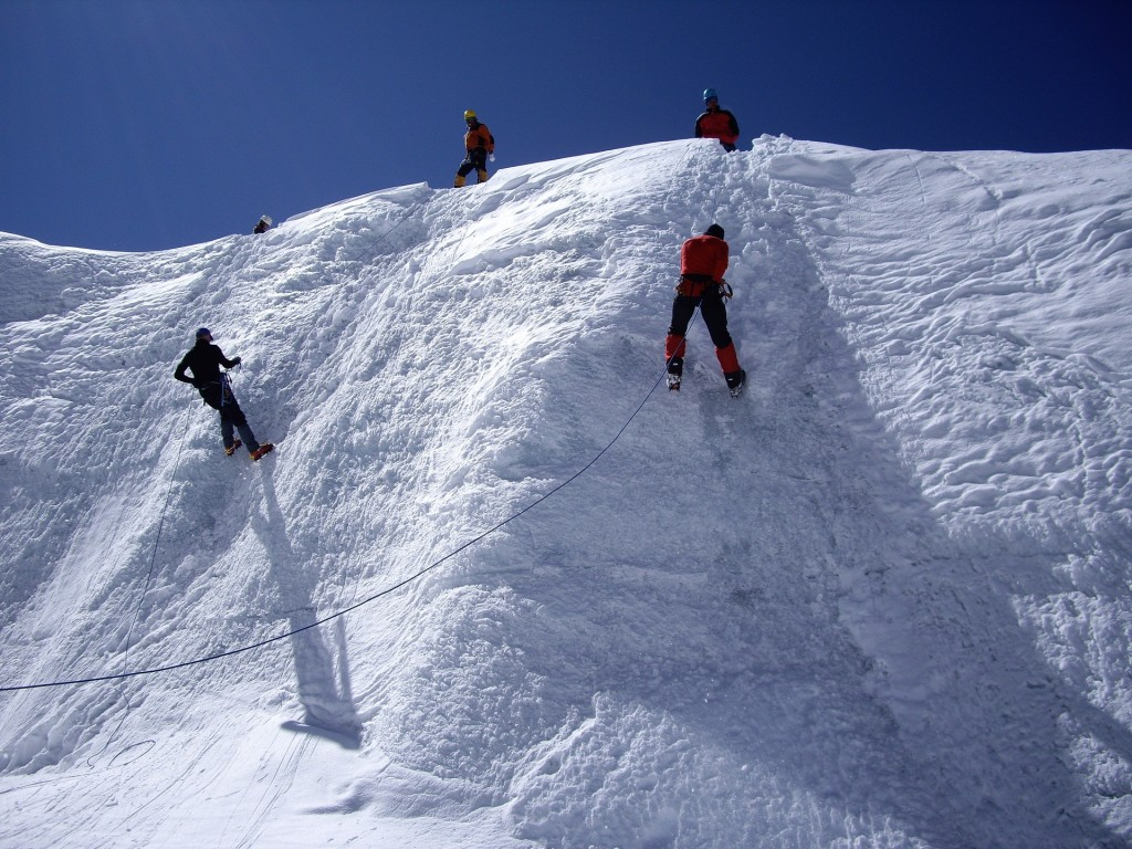 The training ice wall