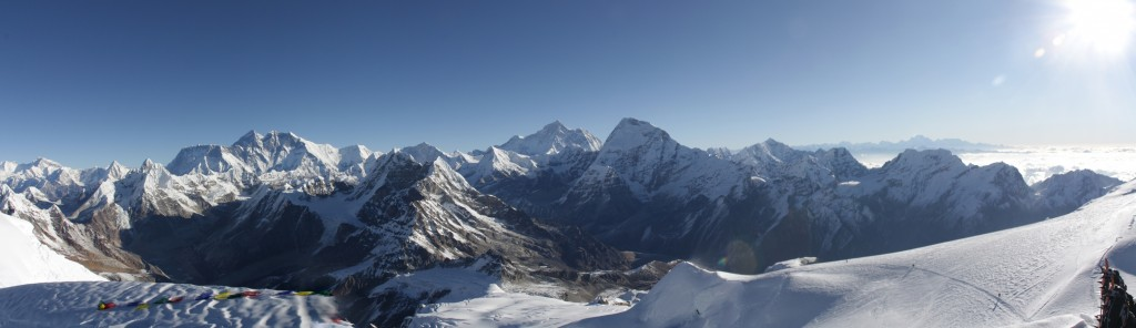 Panorama from the Mera Peak summit
