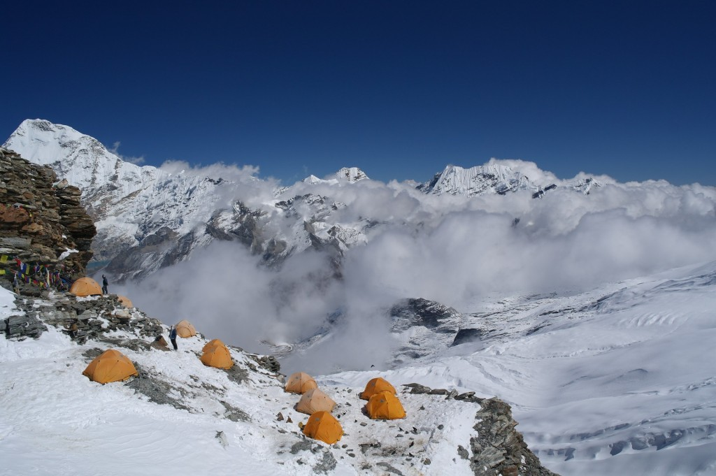 The Mera Peak high camp