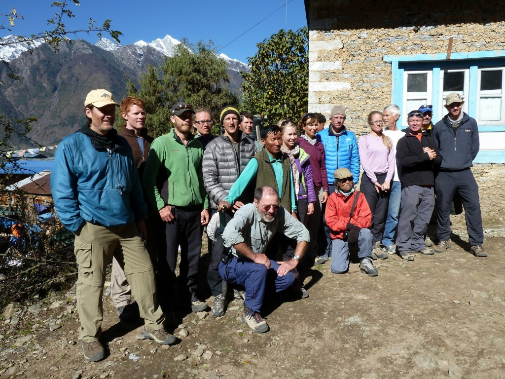 Expedition team group photo just before we leave Lukla