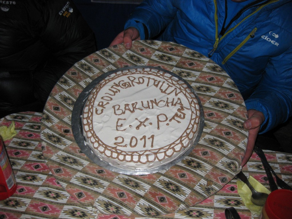 The SummitClimb Baruntse 2012 official cake