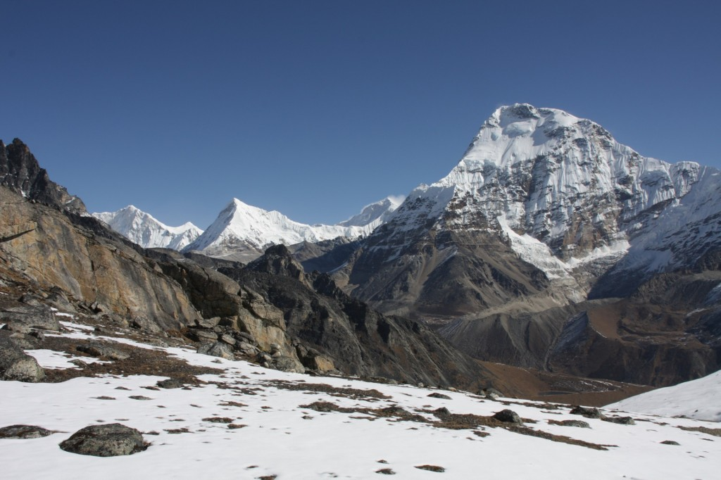 The views just outside the Mera Peak basecamp