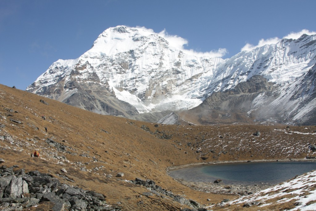 Crystal clear mountain lake in Hunku valley