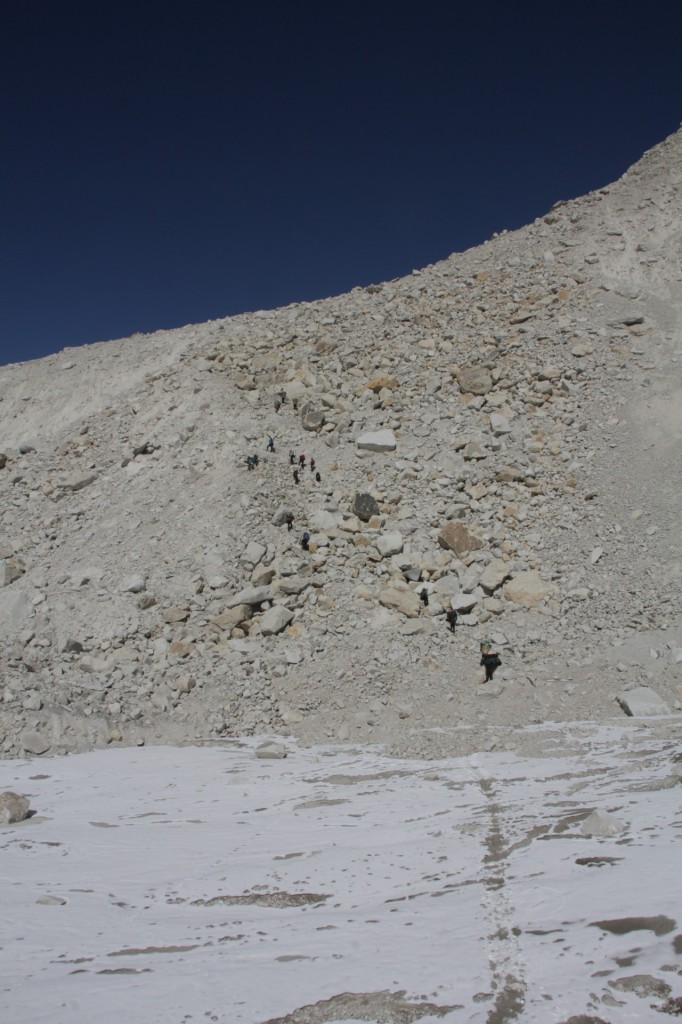 The road from Baruntse basecamp to Amphulapcha pass
