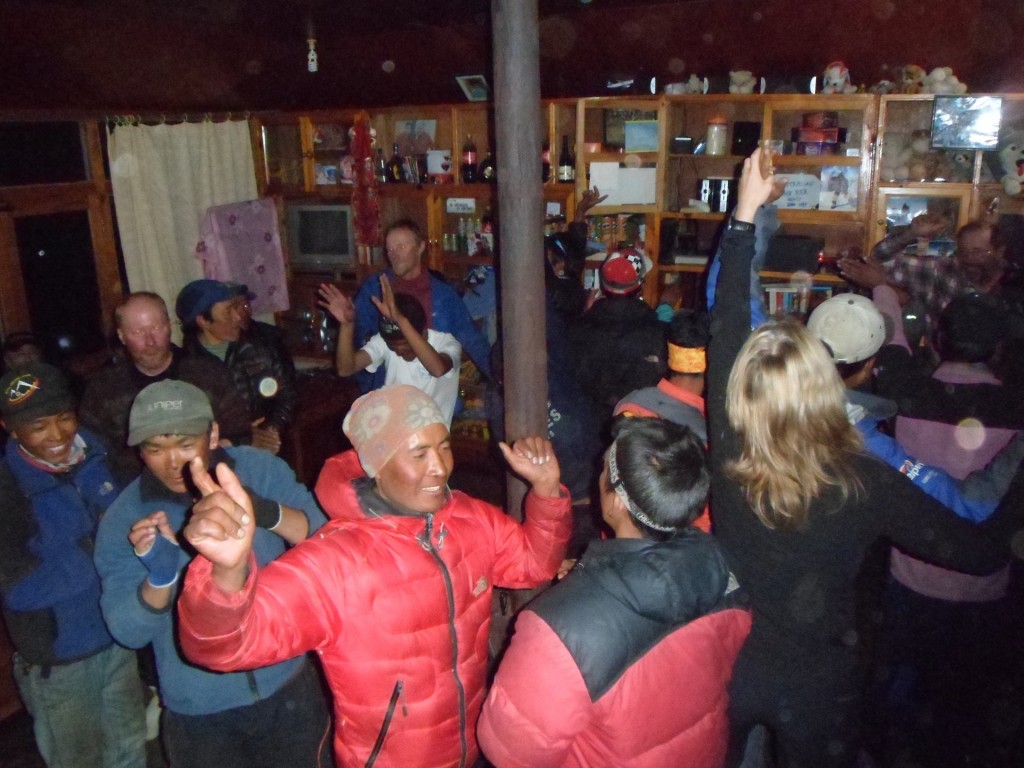 The party at Pengboche