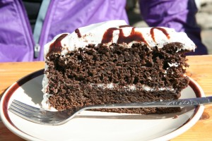Chocolate cake at the Tengboche bakery