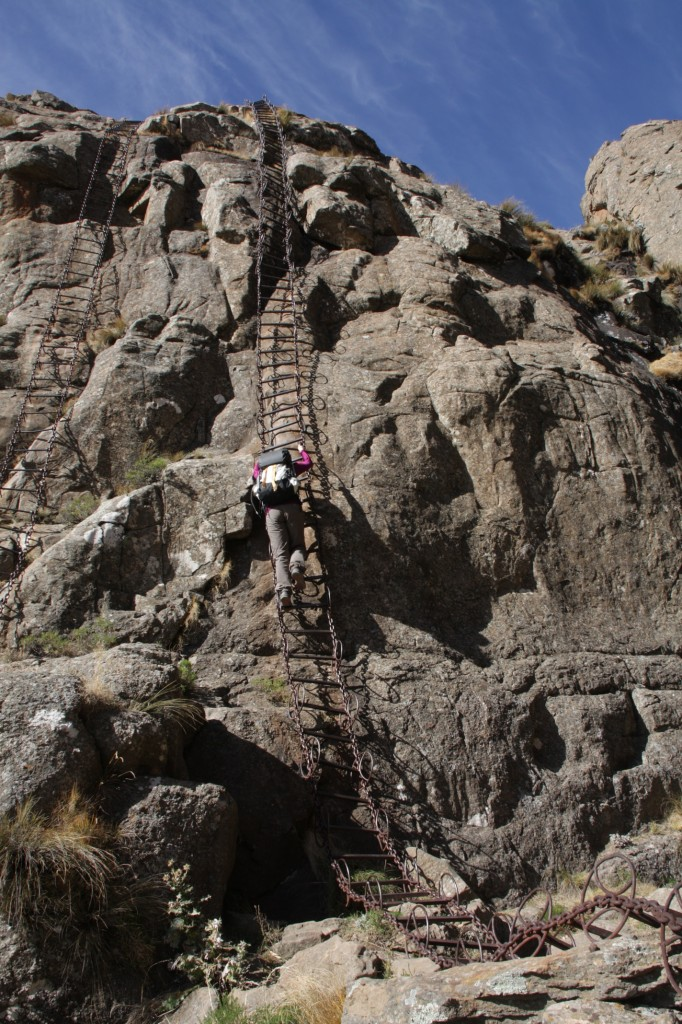 Chain ladders at the Sentinel Peak