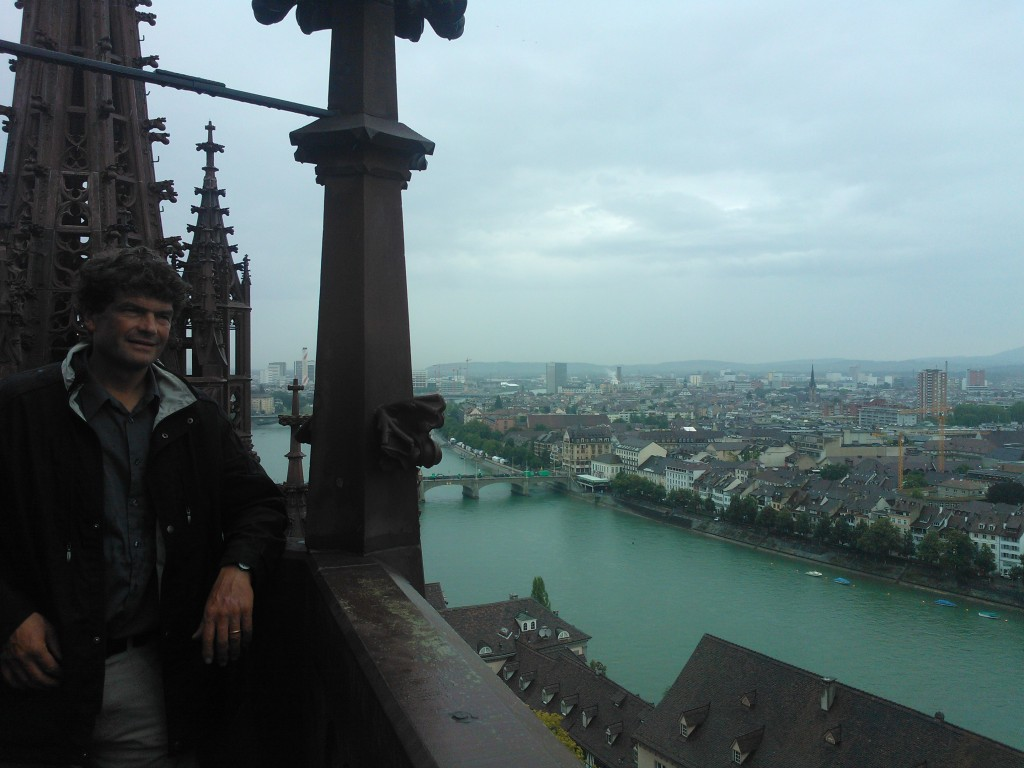 On top of the Basel Minster with Markus