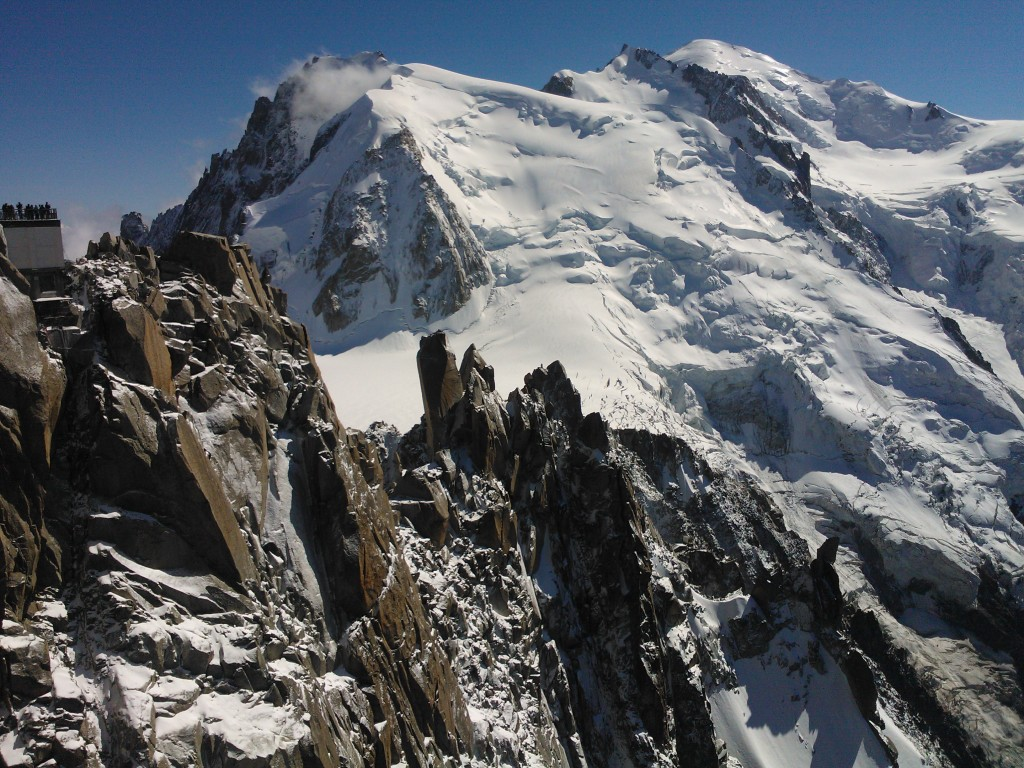 Cosmique ridge from the Midi viewing platform