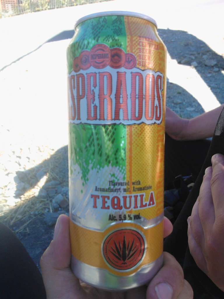 Desperados - a tequila flavored beer