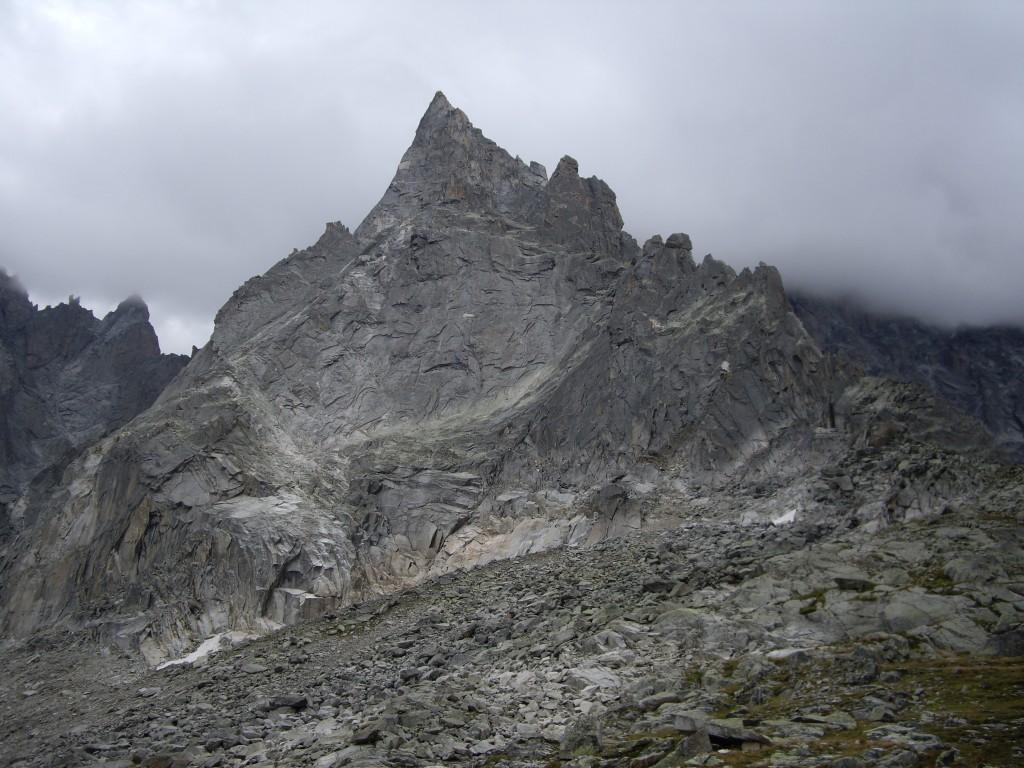 Aiguille du Peigne and the Arête des Papillons