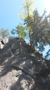 Me climbing some easy route with some alpine feel