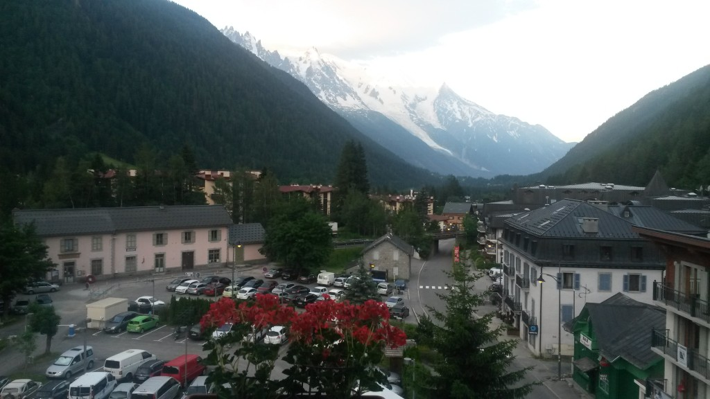 You can see Midi and Mont Blanc from the UCPA Argentière windows
