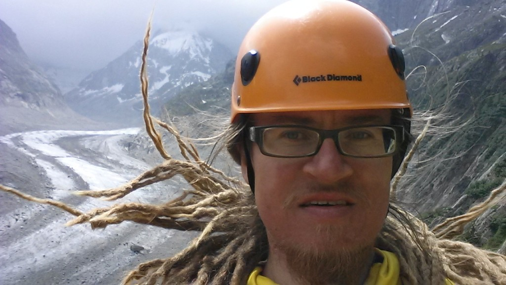It was a bit windy up there. The orientation of my hair gives some indication.