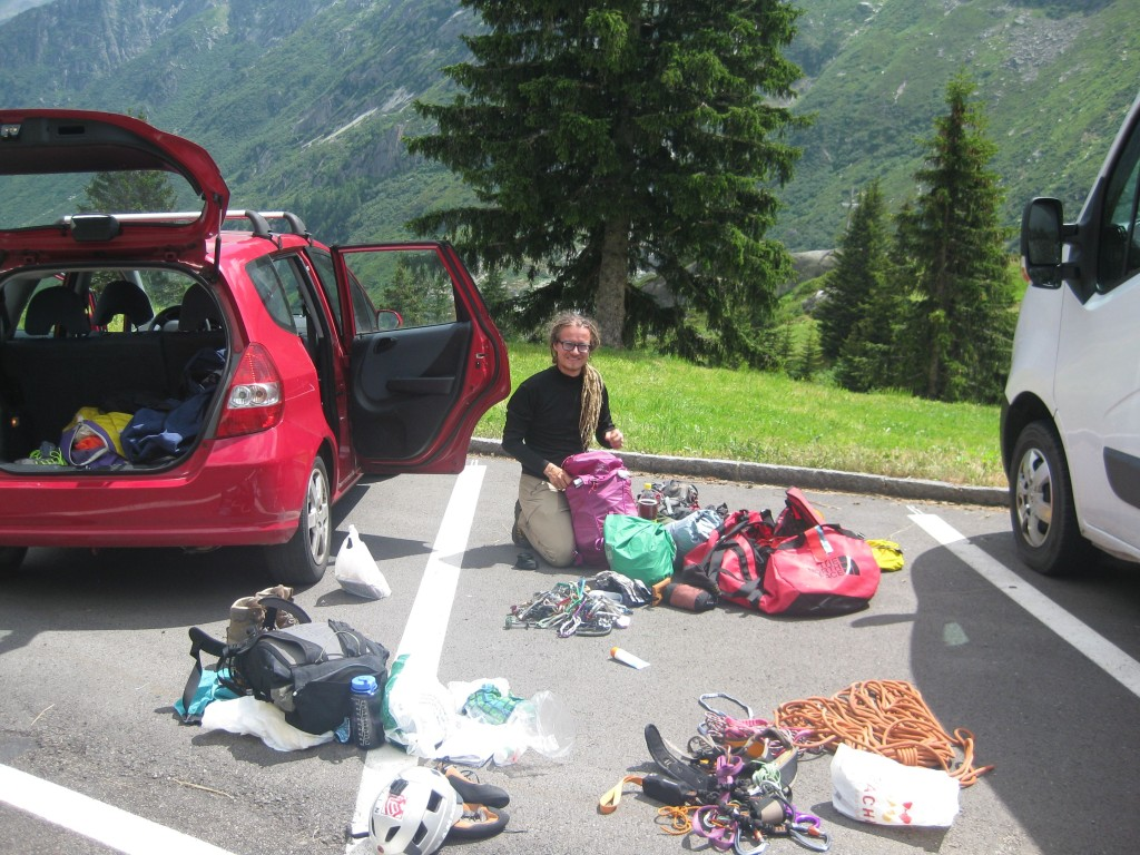 Gearing up at the Göscheneralps