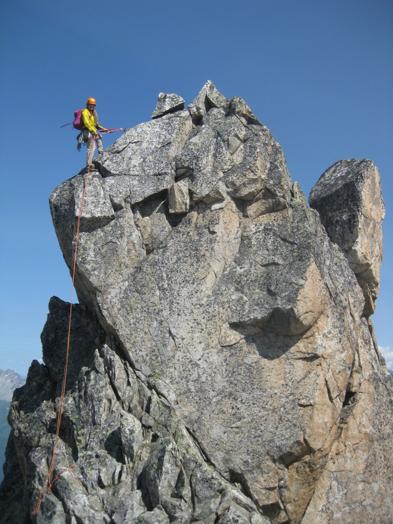 Abseiling from the top