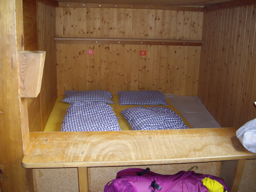 Our sleeping quarters at the Bergseehütte