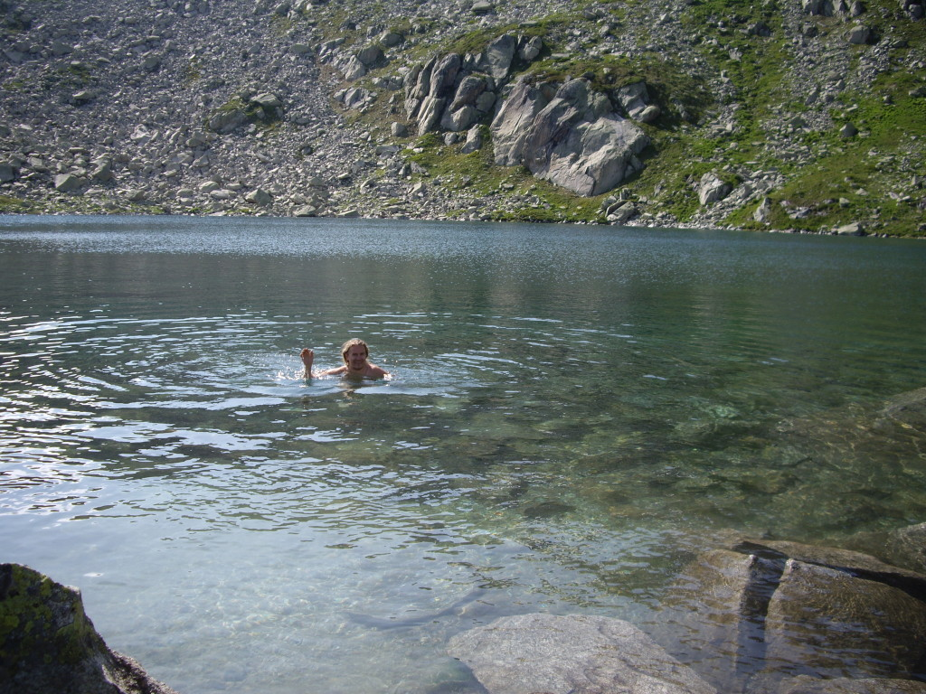 Swimming in the cold Bergsee