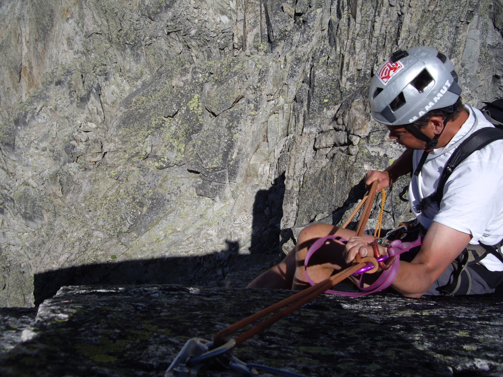 Some of the abseils were a bit awkward to get off