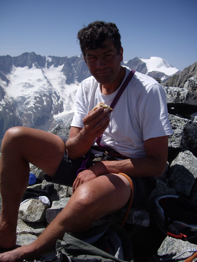 A snack break at the summit