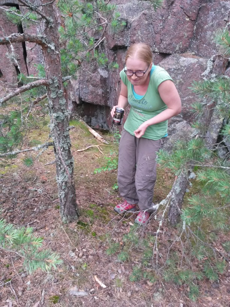 I Finnish woods you might ran into this kind of beer drinking, hunchbacked bouldering dwarfs. Beware.